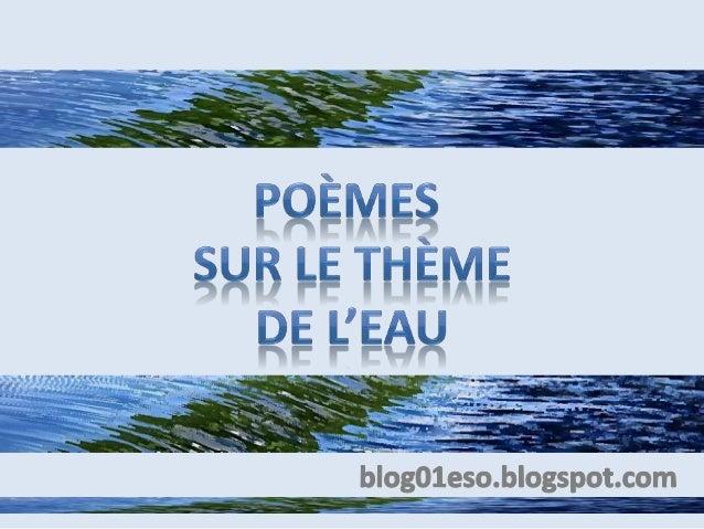 Poèmes Sur Le Thème De Leau