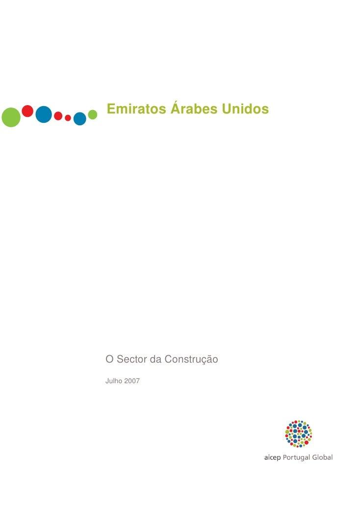 Emiratos Árabes UnidosO Sector da ConstruçãoJulho 2007