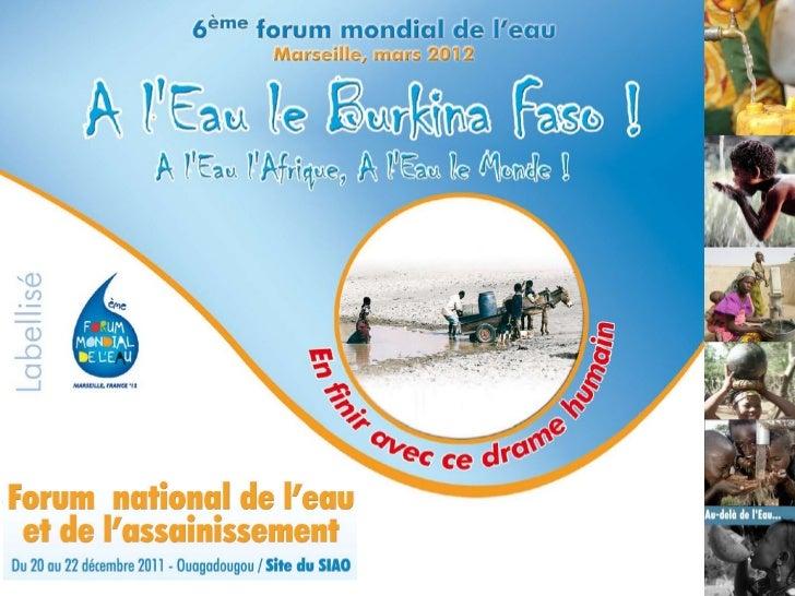 Présenté par  Juste Hermann NANSI Directeur Pays Eau Vive / Burkina Faso et Togo