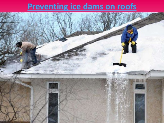 Eavestrough Ice Dam Removal
