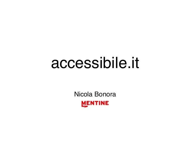 accessibile.it Nicola Bonora