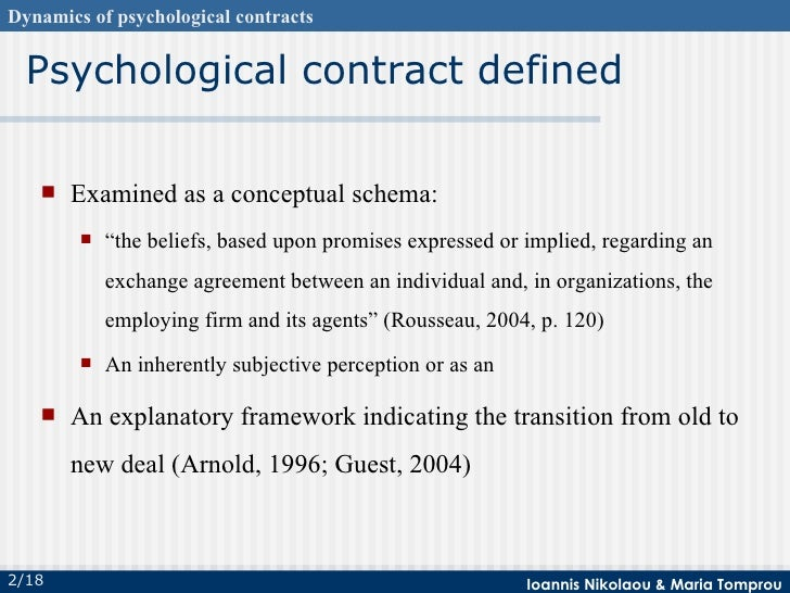 Psychological Contract Selection