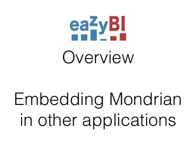 Overview  !  Embedding Mondrian  in other applications
