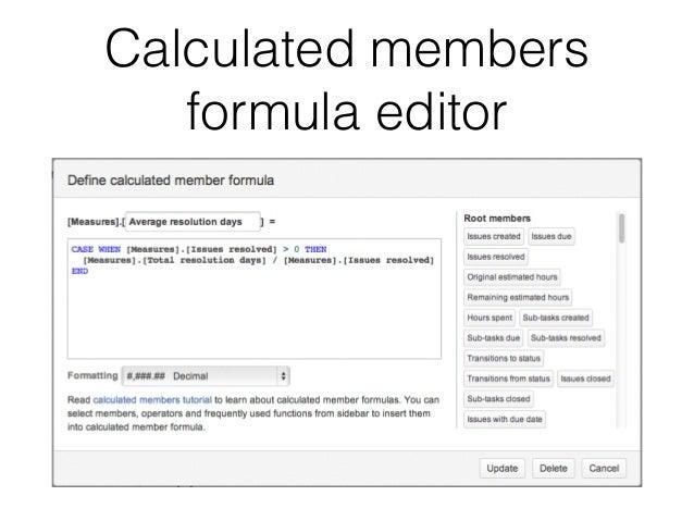 Calculated members  formula editor
