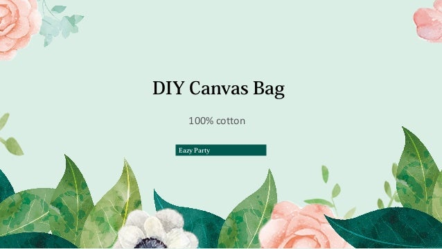 Eazy Party 2 Pack Natural Canvas Tote Bags Reusable Grocery