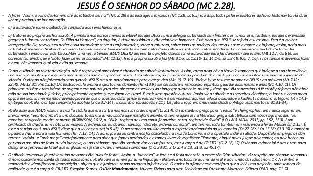 • JESUS CRISTO É O NOSSO SABADO; NOSSO DESCANSO; N'ELE ESTA CUMPRIDA A LEI. • Antes que viesse esta fé, estávamos sob a cu...