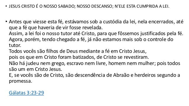 ESTUDO BÍBLICO (EB - 3) GÊNESIS 2.2-4 | O SHABAT