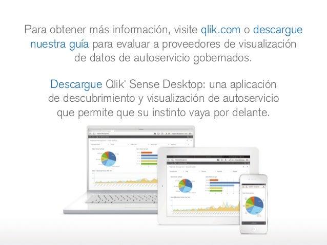 Para obtener más información, visite qlik.com o descargue nuestra guía para evaluar a proveedores de visualización dedato...