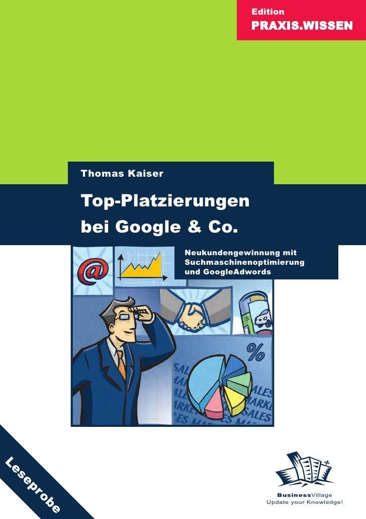 Edition                                        PRAXIS.WISSEN               Thomas Kaiser            Top-Platzierungen     ...