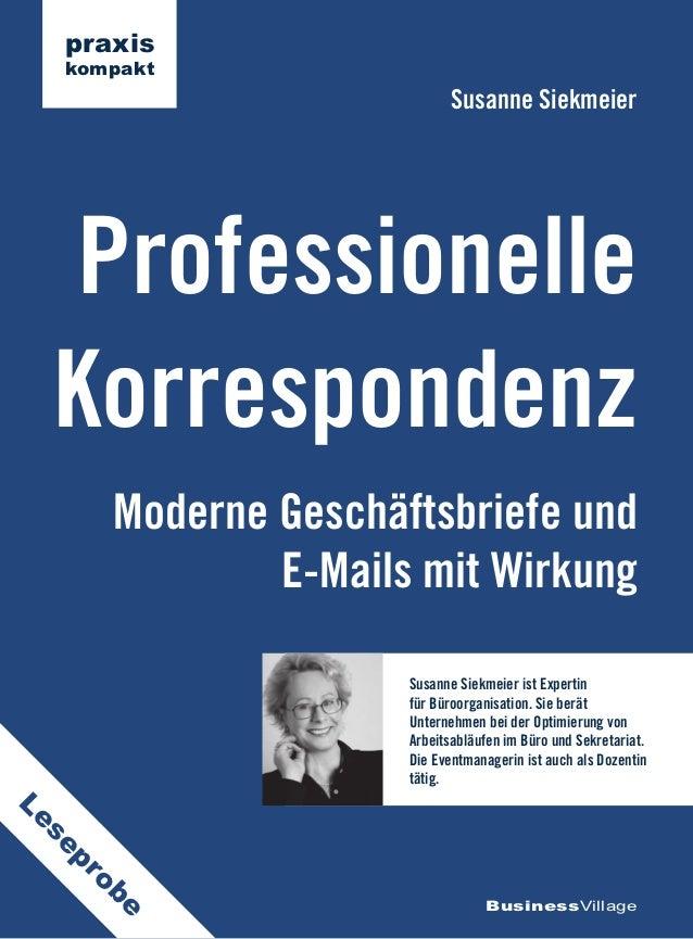 praxis     kompakt                                Susanne Siekmeier Professionelle Korrespondenz          Moderne Geschäft...