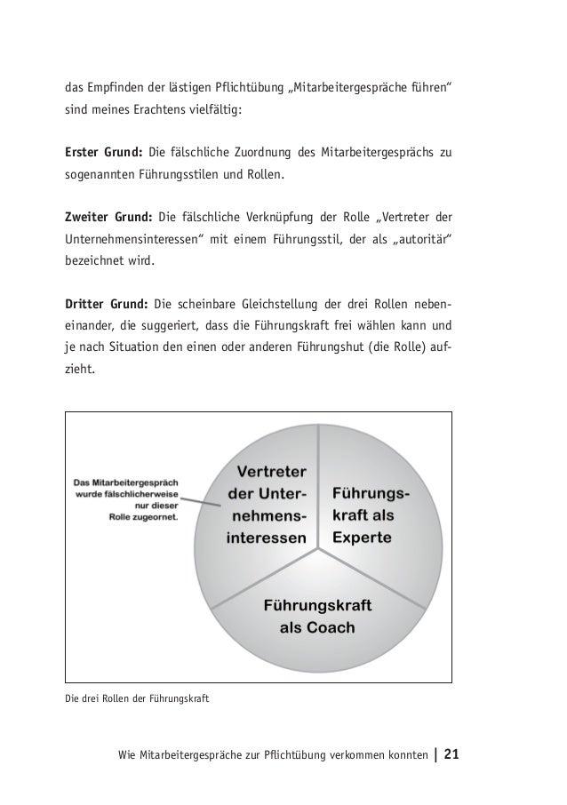 Die Drei Rollen Der Führungskraft Wie Mitarbeitergespräche Zur Pflichtübung  Verkommen Konnten | 21; 23.