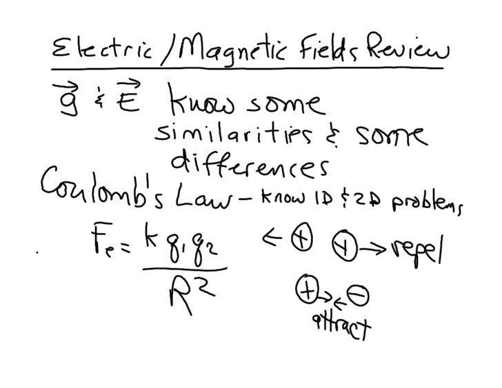 E B Fields Review