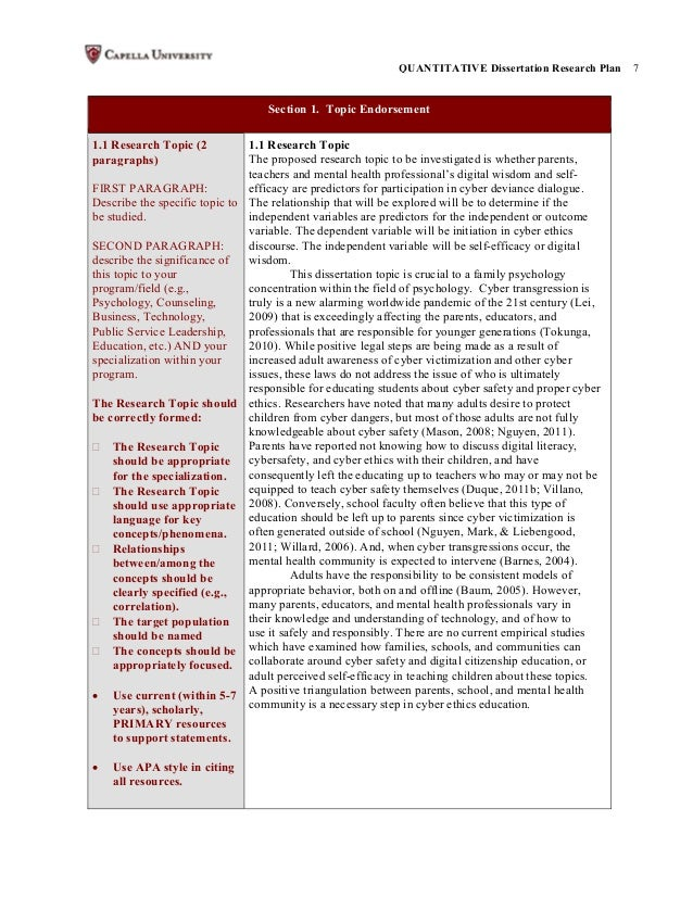 dissertation research plan