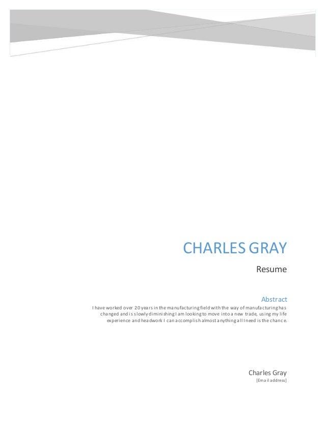 resume Charles Gray 2015 post lsi