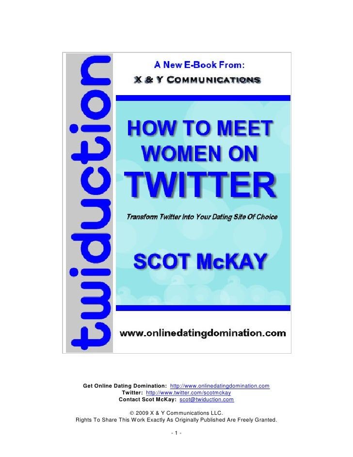 Get Online Dating Domination: http://www.onlinedatingdomination.com               Twitter: http://www.twitter.com/scotmcka...