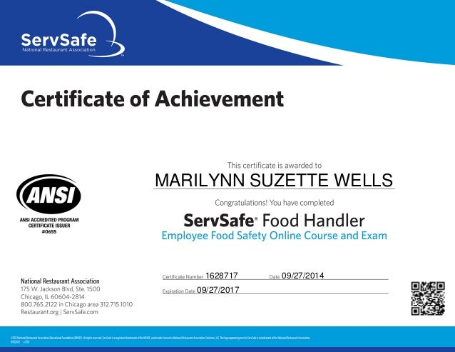 food handlers certificate | food
