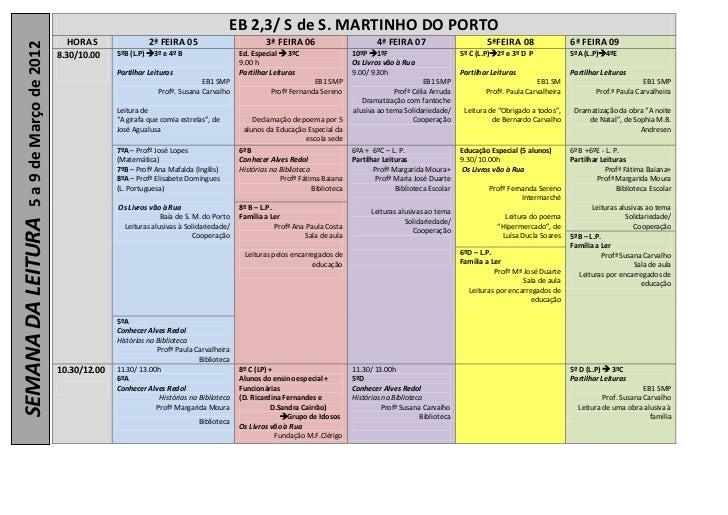 EB 2,3/ S de S. MARTINHO DO PORTO                             HORAS                 2ª FEIRA 05                           ...