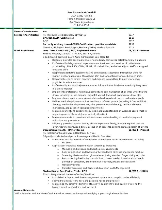2015 rn resume summary and full resume