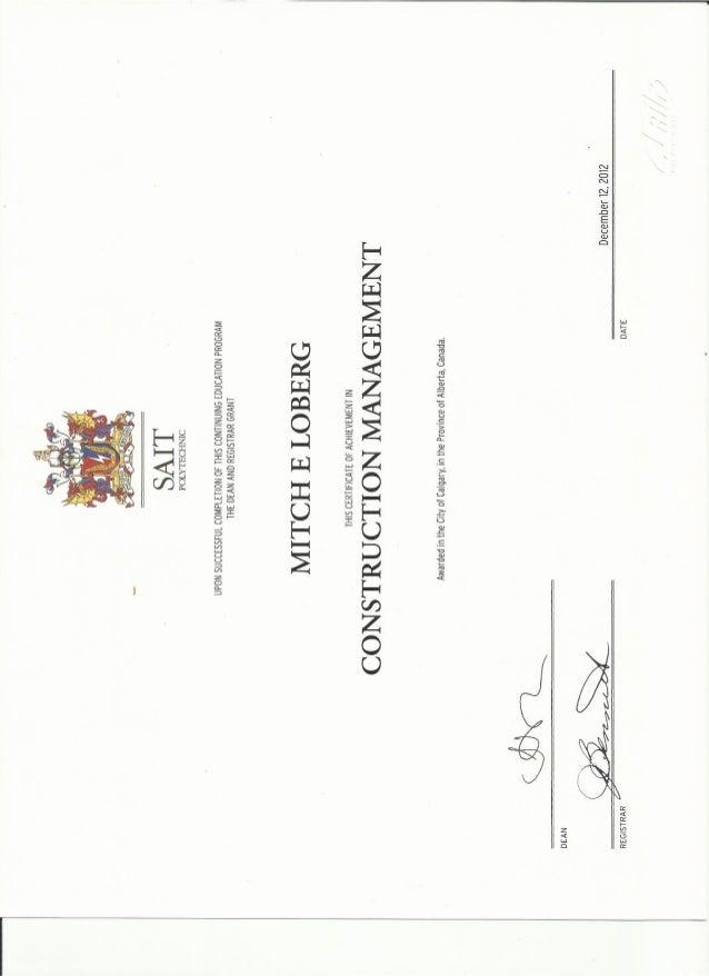 Construction Management Certificate of Achievement SAIT - oukas.info