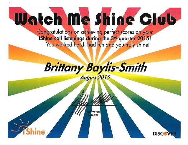 Watch Me Shine August 2015