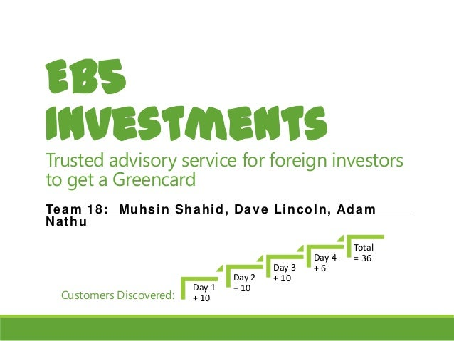 EB5 Investments  Trusted advisory service for foreign investors to get a Greencard Te a m 1 8 : Mu h s in Sh a h id , D a ...