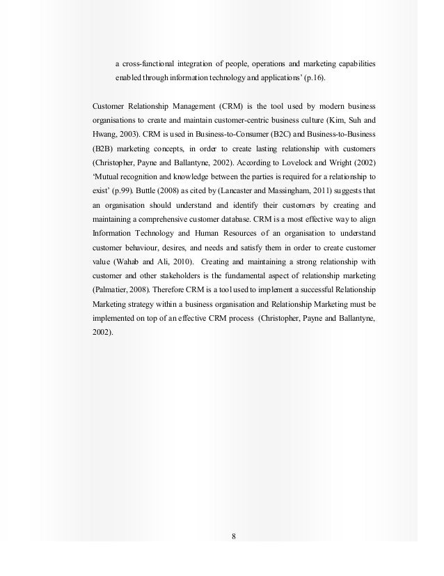 8 a cross-functional integration of people, operations and marketing capabilities enabled through information technology a...