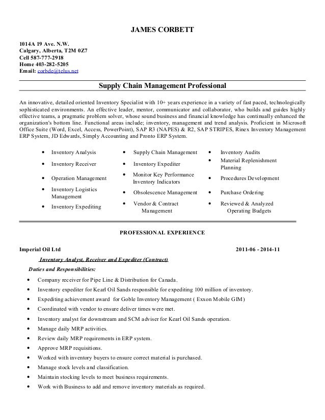 Receiver resume