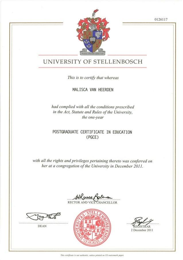 certificate graduate education slideshare upcoming