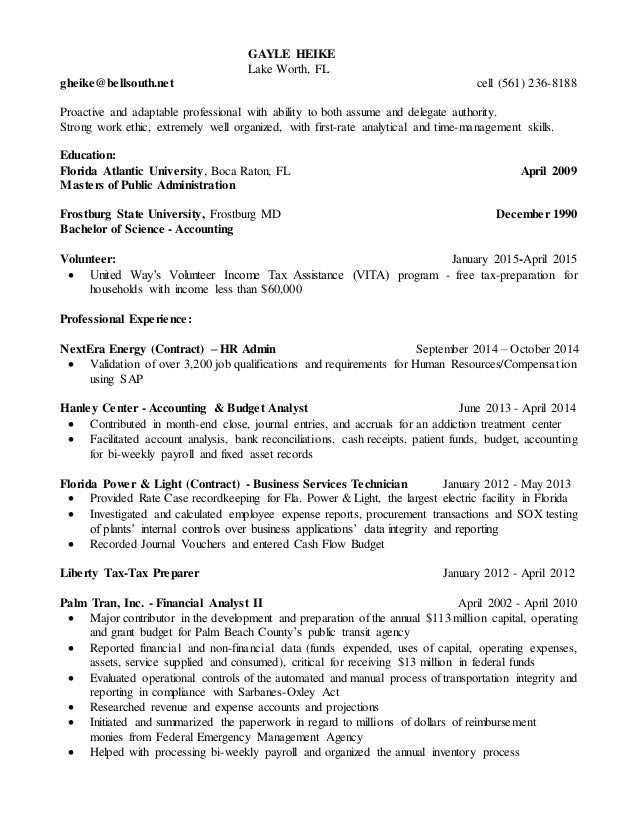 accountant analyst resume 2015