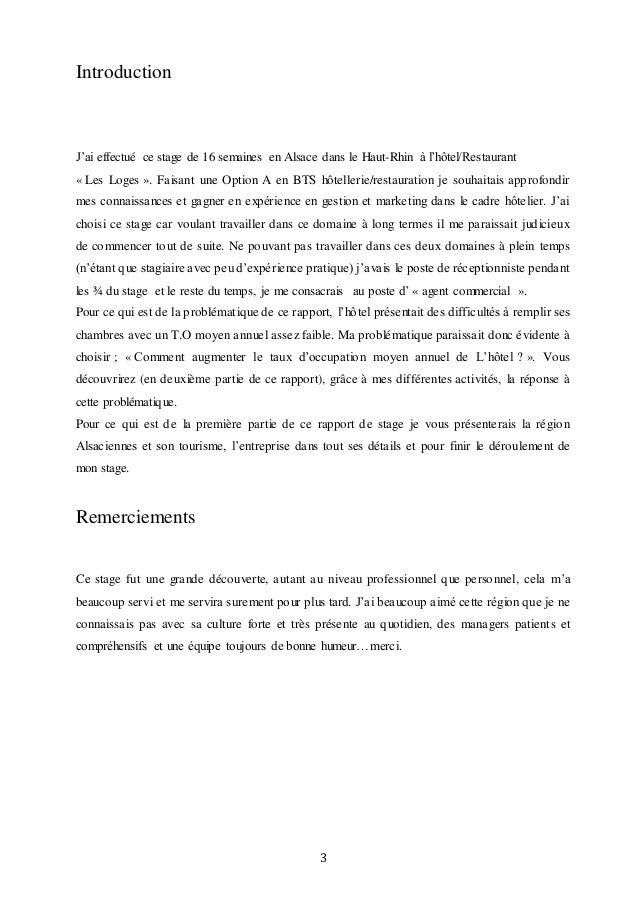 Rapport de stage 2 - Rapport de stage en cuisine ...
