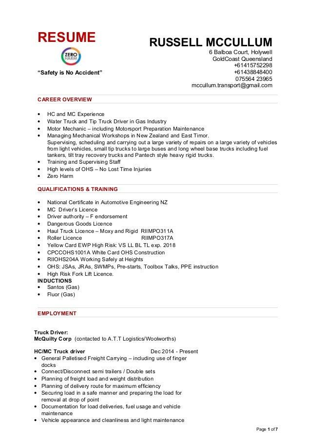 Resume Russell Mccullum 2015