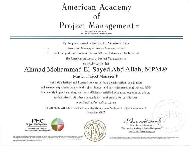 09 MPM Certification