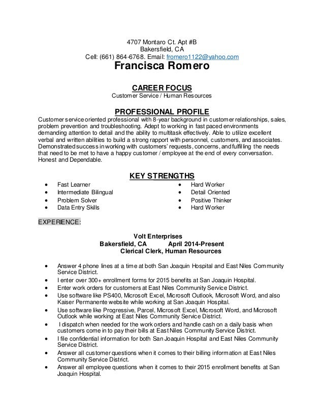 Career Focus For Resume Career Focus Resume  Zoro.blaszczak.co