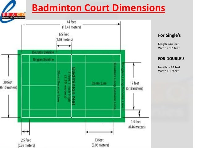 Ebaco sports flooring presentation for Indoor badminton court height