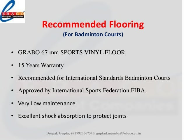 Ebaco Sports Flooring Presentation
