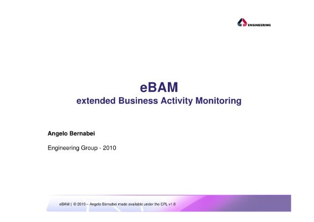 ESE 2010 - eBAM - extended Business Activity Monitoring