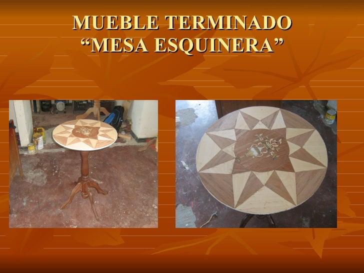 Ebanisteria for Mesa redonda esquinera