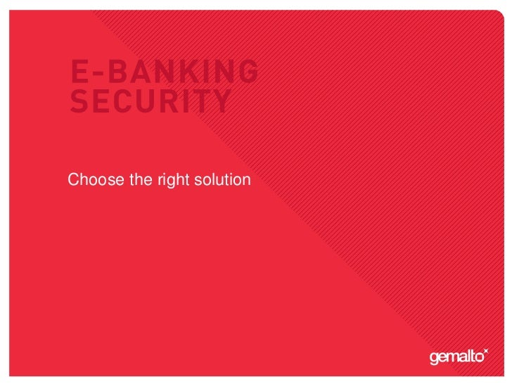Choose the right solution