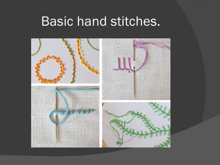 Basic hand stitches.