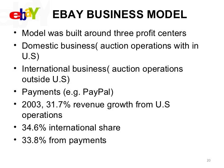 business model for ebay marketing essay Free essay: 1 what is ebay's problem 2 which marketing strategy was ebay ----- 3 ebay's business model more about ebay problem and market strategy essay.