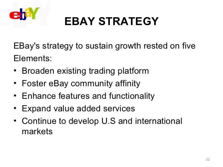 Strategic Mgt Of Ebay