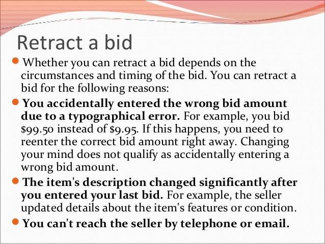 How To Remove A Bid On Ebay >> Canceling A Bid On Ebay