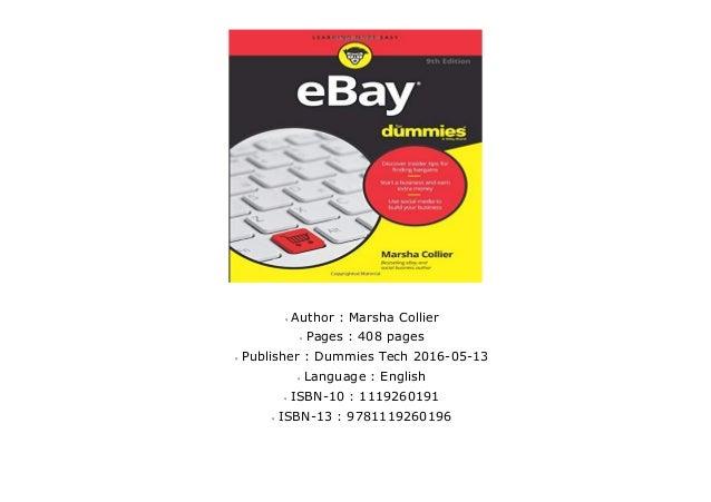 Pdf Ebay For Dummies 9e Kindle