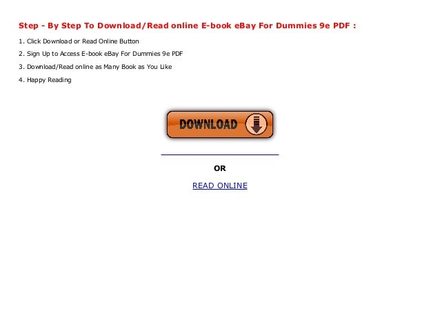 E Book Ebay For Dummies 9e Pdf