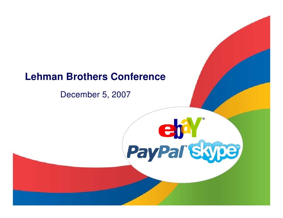 Lehman Brothers Conference       December 5, 2007                               ®