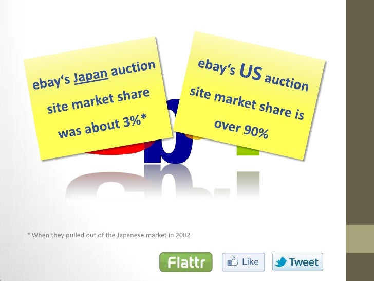 why ebay failed in asia About a decade ago, ebay inc made a legendary retreat from the chinese auction business in the face of growing local competition it was a defeat so humiliating that it became a business school.
