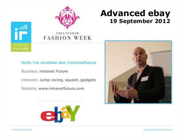 19 September 2012Advanced ebay