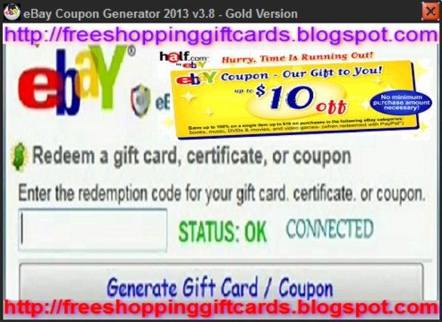Free ebay coupons