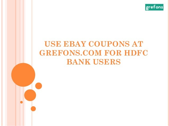 hdfc coupons for ebay 2019