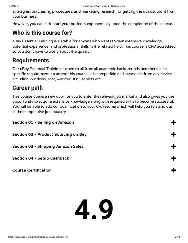 Ebay Essential Training Course Gate